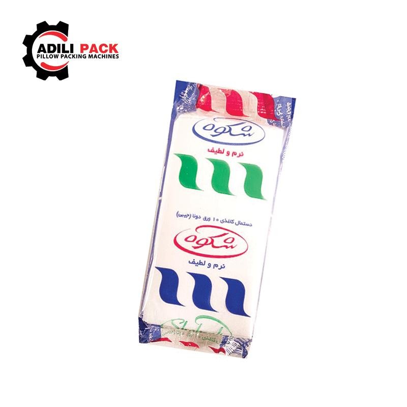 دستگاه بسته بندی دستمال کاغذی جیبی